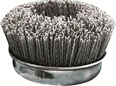 United Abrasives SAIT Nylon Cup Brush with 80X Grit, 1-Pack