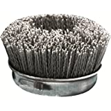 United Abrasives SAIT 04340 6-Inch Nylon Cup Brush with 80X Grit, 1-Pack