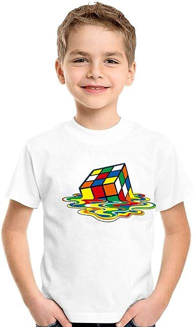 Moonker Baby Boys Girls Tee T-Shirt Summer Clothes 2-12 Years Old Kids Smile Cartoon Shirt Short Sleeve Tops
