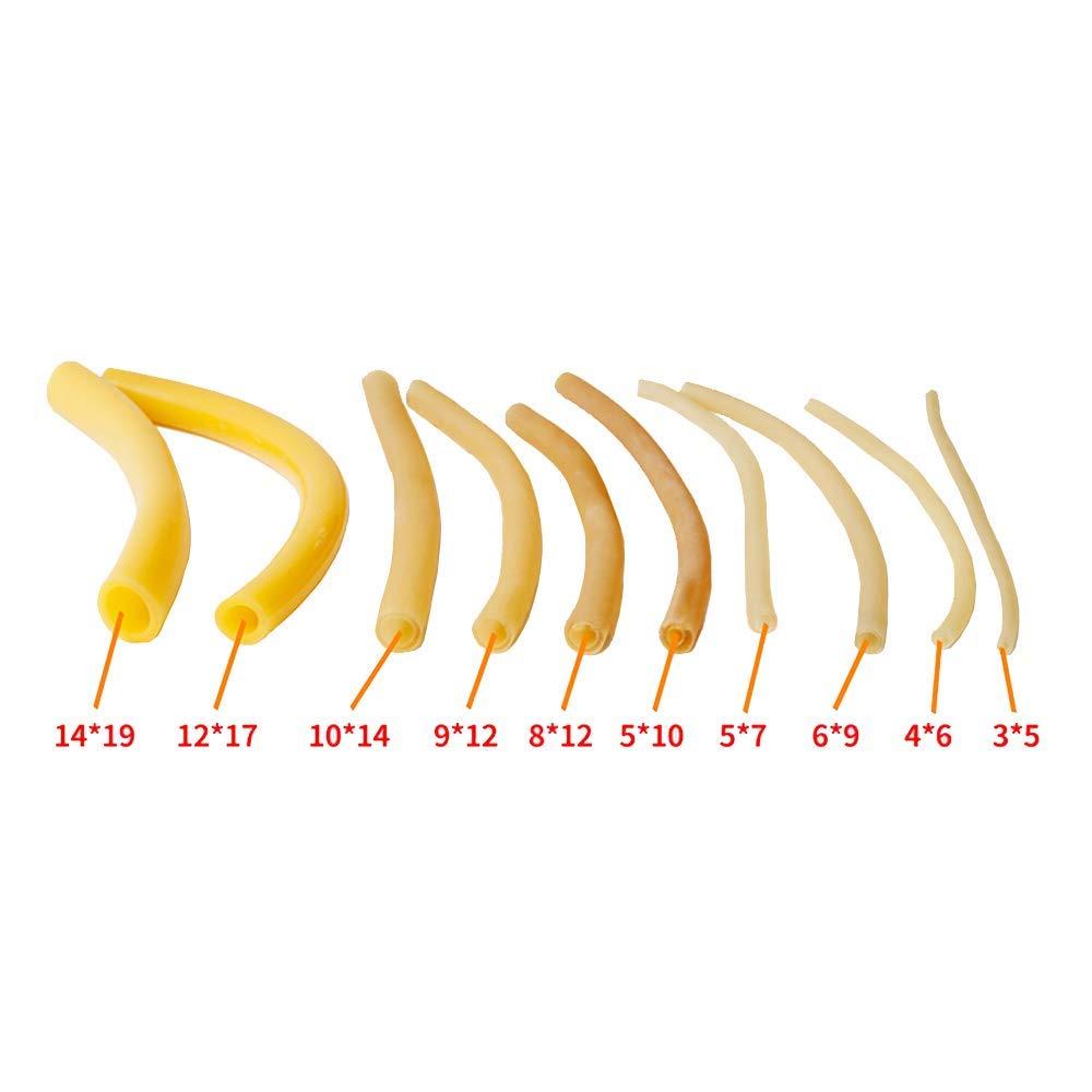 tanstool Tube /Élastique en Latex Naturel Bande Elastique en Caoutchouc de Fronde 3mm ID x 7mm OD /Épaisseur de paroi 1mm 5 m/ètre Pour la chasse ou le montage daccessoires pour lance-pierre