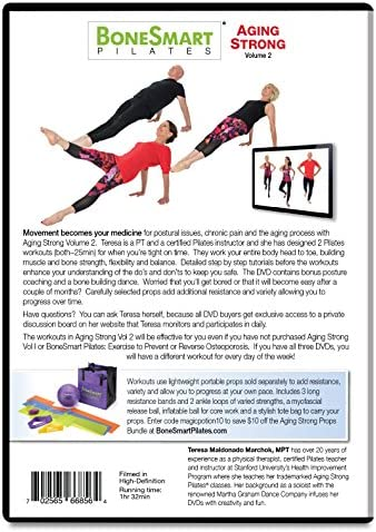 BoneSensible Pilates Aging Strong DVD Vol 2 with Enhanced Props Bundle - Newly Released! - Exercise to Build Bone, Avoid Injury, Age Strong
