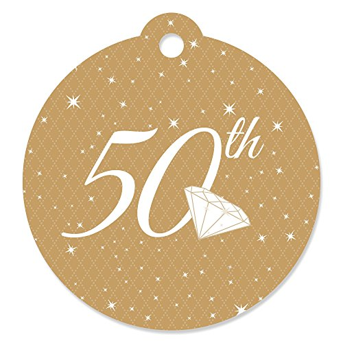 50th Anniversary - Wedding Anniversary Party Favor Gift Tags (Set of 20) ()