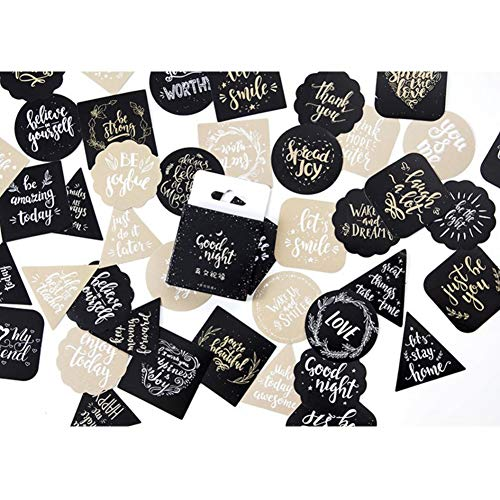 CheeseandU 90Pcs Cute English Blessing Decorative Stickers Adhesive Stickers DIY Decoration Gift Bag Craft Scrapbooking Stickers Gift Statione Thanksgiving Xmas Holiday Birthday Sticker