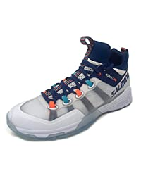 Salming Mens Kobra Mid 2 Sports Indoor Court Trainers - White/Blue