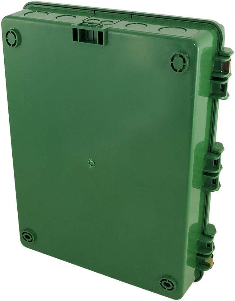 Polycarbonate Altelix Green NEMA Enclosure 17x14x6 14 x 9 x 4.5 Inside Space ABS Tamper Resistant Weatherproof Rainproof with Aluminum Equipment Mounting Plate
