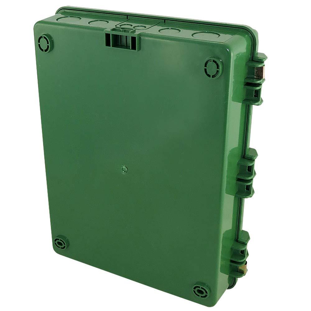 14 x 9 x 4.5 Inside Space Polycarbonate ABS Tamper Resistant Weatherproof Rainproof with Aluminum Equipment Mounting Plate Altelix Green NEMA Enclosure