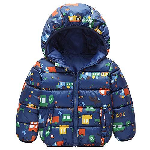 Minizone Kids Winter Jacket Hooded Coat Warm Waterdicht Lichtgewicht Tops Outfits 1-4 Jaar