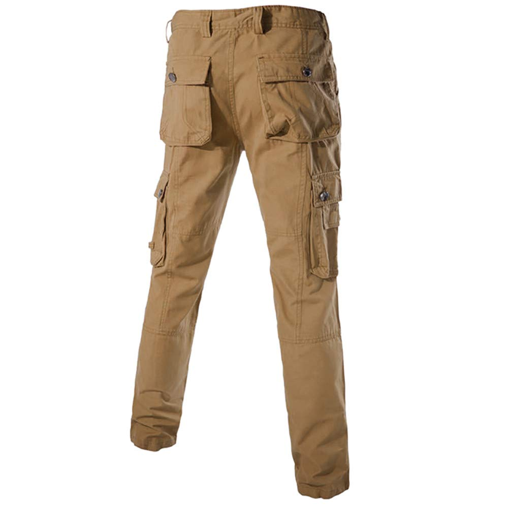 UINGKID - Pantalones de chándal para Hombre Caqui 34: Amazon.es ...