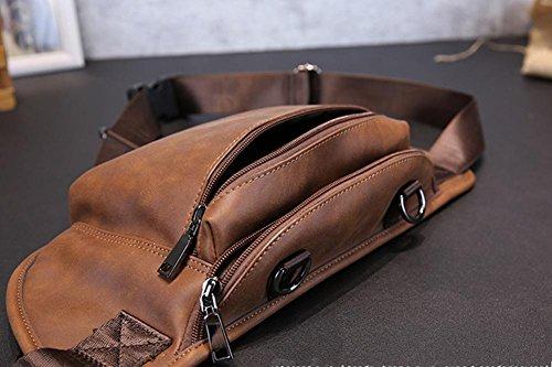 Koreanische Version der neuen Pu Leder Herren Brust Tasche casual outdoor einzelne Diagonale Schultertasche