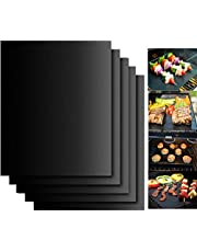Everteco EVFK7 Grill Mat Set of 5-100% Non-Stick BBQ Grill & Baking Mat Pad - Fda-Approved, PFOA Free