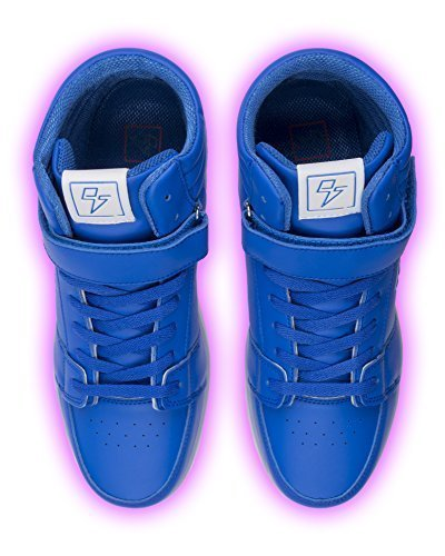 Electric Styles LED High Top Glow Sneakers 11 Men Blue (Electric Blue Sneakers)
