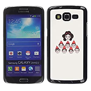 LECELL--Funda protectora / Cubierta / Piel For Samsung Galaxy Grand 2 SM-G7102 SM-G7105 -- Character Seven Princess --