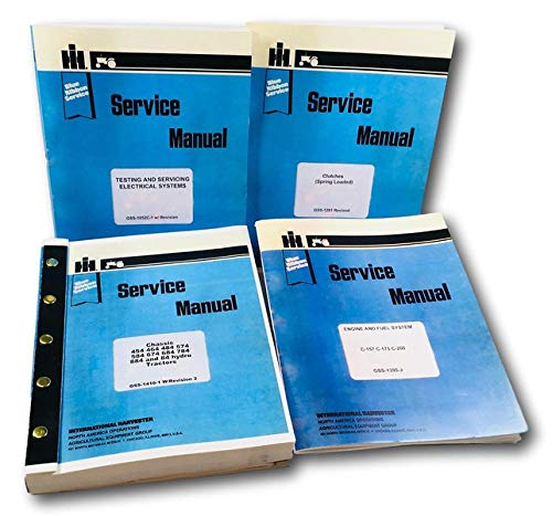 Lot International 454 464 574 674 Gas Tractor Service Repair Shop Manual New Ih - Ih Shop Manual