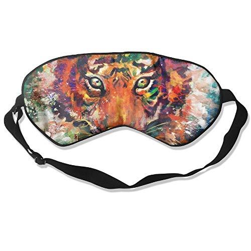 QQMIMIG Tiger Predator Carnivore Unisex Super-Smooth Eye Mask Natural Silk Sleeping Mask Soft Blindfold Eyeshade Comfortable Eyepatch with Adjustable Head Strap -