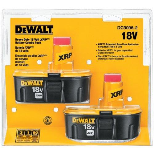 DEWALT DC9096-2 18-Volt XRP Batteries, 2 - Pack Battery 18