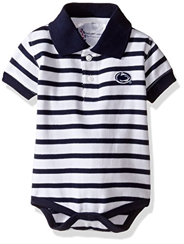 Two Feet Ahead NCAA Penn State Nittany Lions Infant Boys Stripe Golf Creeper, New Born, Navy