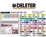 Deleter Neopiko-Color 72 Set B Marker Pens for Manga Comic Illustrators Alcohol Based Dual Tip