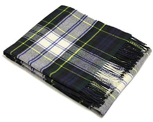 - Tartan Throw - Merino Lambswool (Dress Gordon) ()