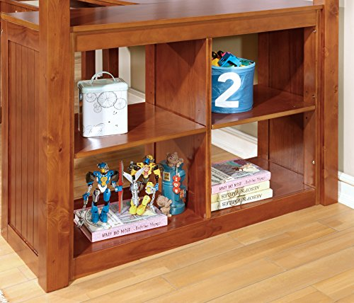 "Furniture of America Lavinia Bed + Work Station, 41.625"" x 80"" x 75"", Oak"