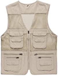 Only Faith Men's Mesh Quick-Dry Fishing Sleeveless Waistcoat Outdoor Photography Vest