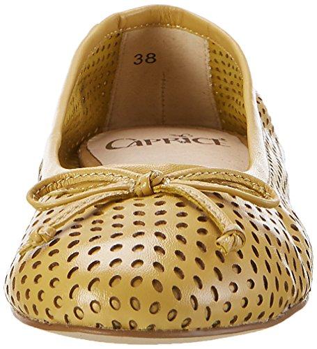 22109 Caprice Ballet Nappa Yellow Flats Saffron Women's 0x7Rqw5