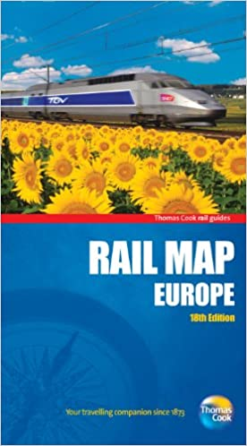 Rail Map of Europe 18th Rail Guides Amazoncouk Thomas Cook