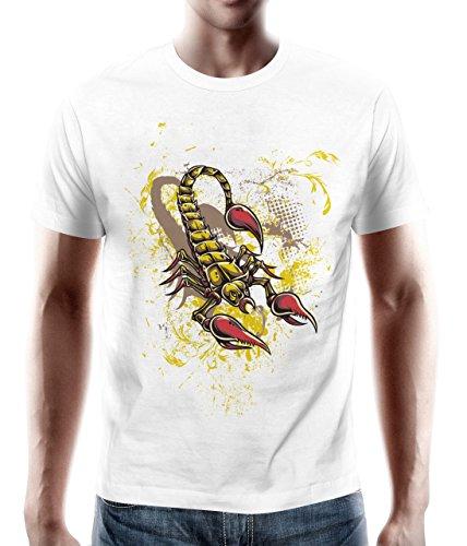 adrotes® Skorpion Sternzeichen - Vintage T-Shirt Weiß - Gr. S-5XL