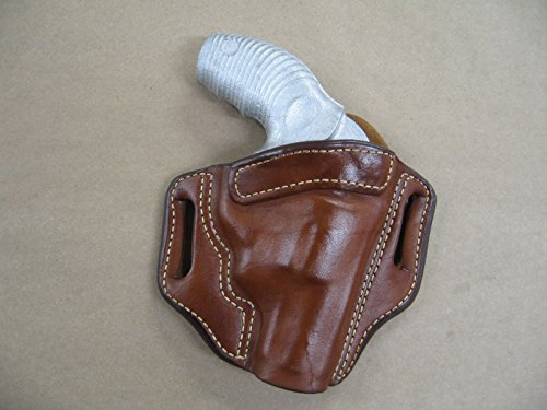 Taurus Protector 85, 605 Poly Revolver OWB Leather 2 Slot Pancake Belt Holster TAN (Poly Protectors)