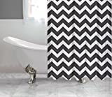 Black and White Shower Curtain Black and White Chevron Shower Curtain by Shower Curtain HQ, 100% Polyester