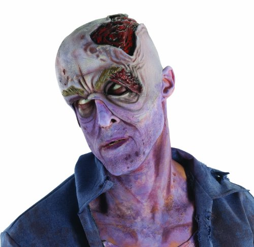Rubie's The Walking Dead TV Show Costume Accessory, Decayed Head With Collapsed Eye Latex Headpiece, One Size]()
