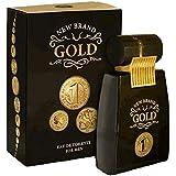 New Brand amgoldnb34s 3.3 Oz. Gold Eau De Toilette Spray For Men