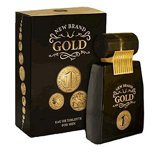 Gold By New Brand 3.4 oz. Eau De Toilette Spray Men (Toilette De Gold Eau Spray)