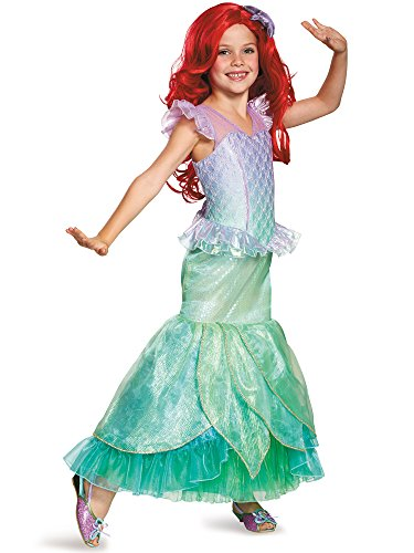 Ariel Ultra Prestige Disney Princess The Little Mermaid Costume, Small/4-6X (Child Ariel Costume Prestige)