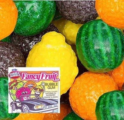 Fancy Fruit Gumballs 1 inch-Dubble Bubble Bubble Gum - 3LB bulk Gumballs - Approx 180 Gumballs Per Bag (Fancy ()