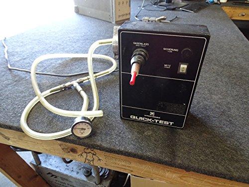 Leybold Heraeus Quick-Test 89600B2 Sniffer Vacuum Tester w/ Vac Line & Gauge from Leybold Heraeus