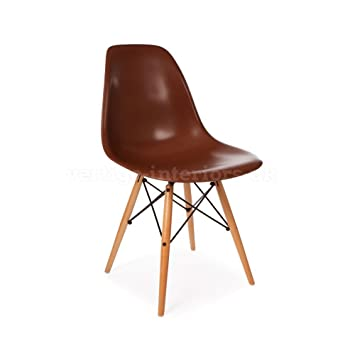 Vertigo Interiors USA 1 X Eames Style Classic Dsw Dowel Dining Lounge Side  Chair Coffee