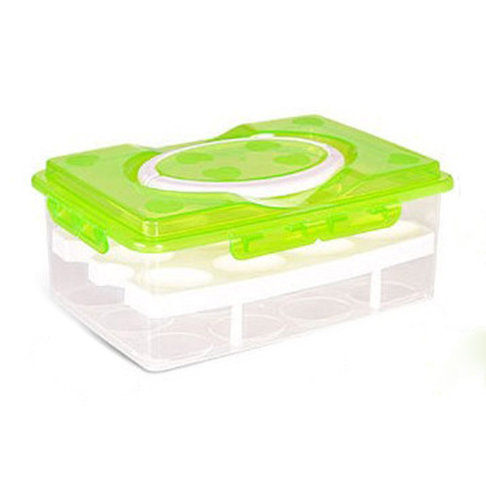 iTemer Eggs Storage Container with Handle 4 Grids Plastic Eggs Storage Case Refrigerator Crisper Egg Box