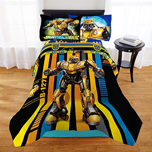 Transformers Bumblebee Boys Twin Comforter & Sheet Set (4 Piece Bed in A Bag) + Homemade Wax Melts