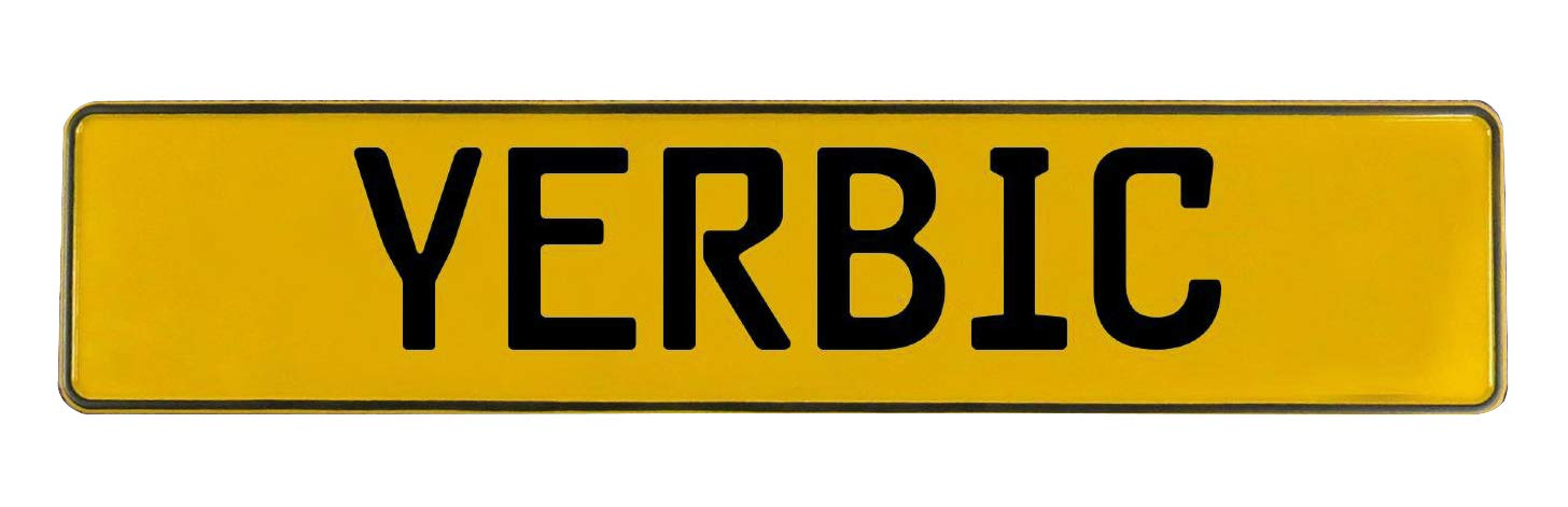 Yerbic Yellow Stamped Aluminum Street Sign Vintage Parts 784341 Mancave Wall Art