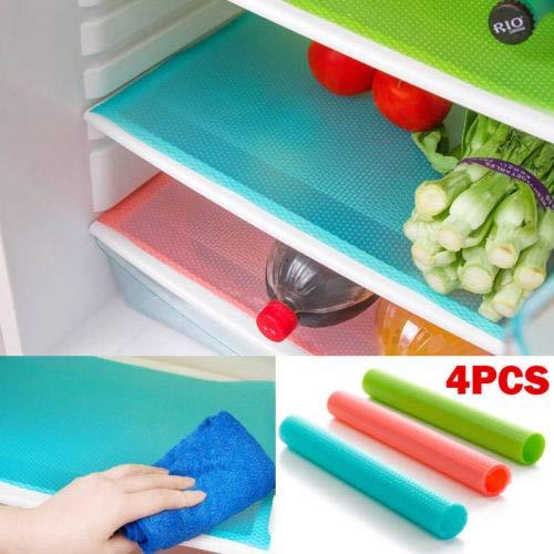 Fiesta Faroot Brand 4Pcs Refrigerador Alacena Estera Almohadilla Cajones Liner Lavable Cocina Impermeable Pad Herramienta de...