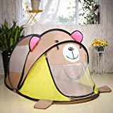 Pericross 180cm Large Baby Play Tent Foldable Children Beach Play House Indoor Outdoor Toys Tents Pop Up Kids Tent House With Window(Brown Bear)