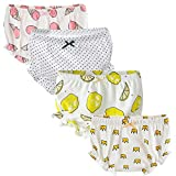 The B-Style TB Baby Diaper Covers Combed Cotton Underwear Soft Cartoon Bloomers 4 Pack (1-2Y, B)
