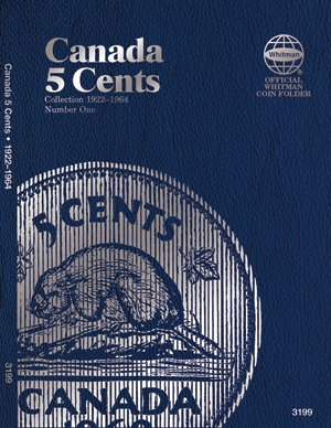 Whitman Coin Folder Album - Canadian 5 Cents, - Canada Cent