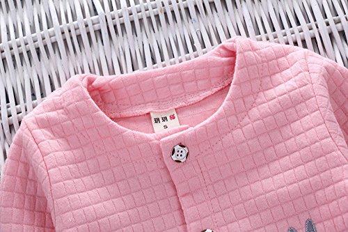 Malada 2Pcs Infant Toddler Baby Girls Rabbit Print Tops Coat+Pants Outfits Clothes Set