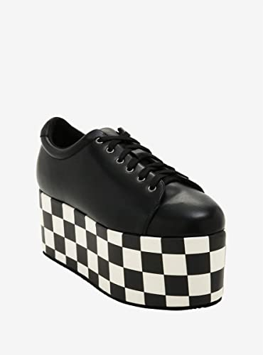 Checkered Sole Platform Sneakers