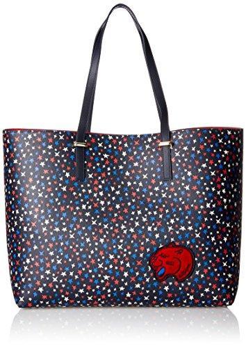 Tommy Hilfiger Super Tote Star Print - Borse a mano Donna, Multicolore (Star Print/Red), 16x30x36 cm (W x H L)