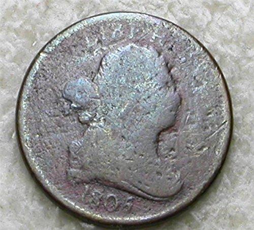 Rare 1805 Draped Bust Half Cent