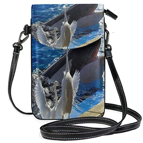 Phone Purse Mini Cell Phone Pouch Hello Friend Birds Whale for Women