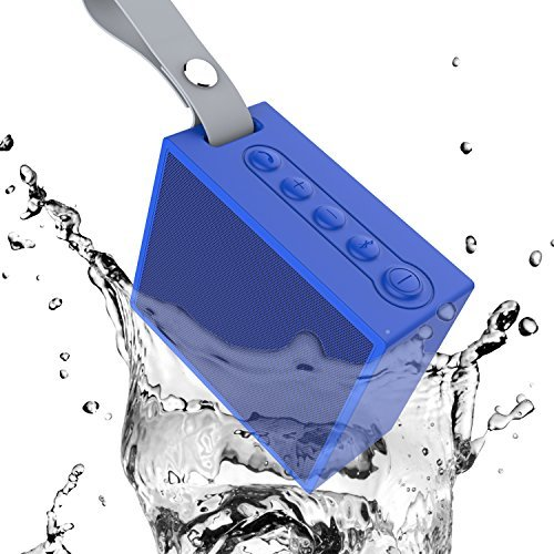Ifecco Portable Wireless Speaker, Bluetooth 4.1 Waterproof Speaker with Built-In Mic Perfect Speaker for Outdoor, Beach, Shower & Home (Blue)