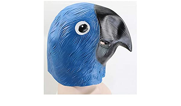 Máscara YN Novedad Loro Animal Mascarada látex Danza de Carnaval de Halloween (Color : Blue): Amazon.es: Hogar